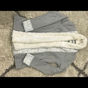 Anthropology warm fur lined sweater